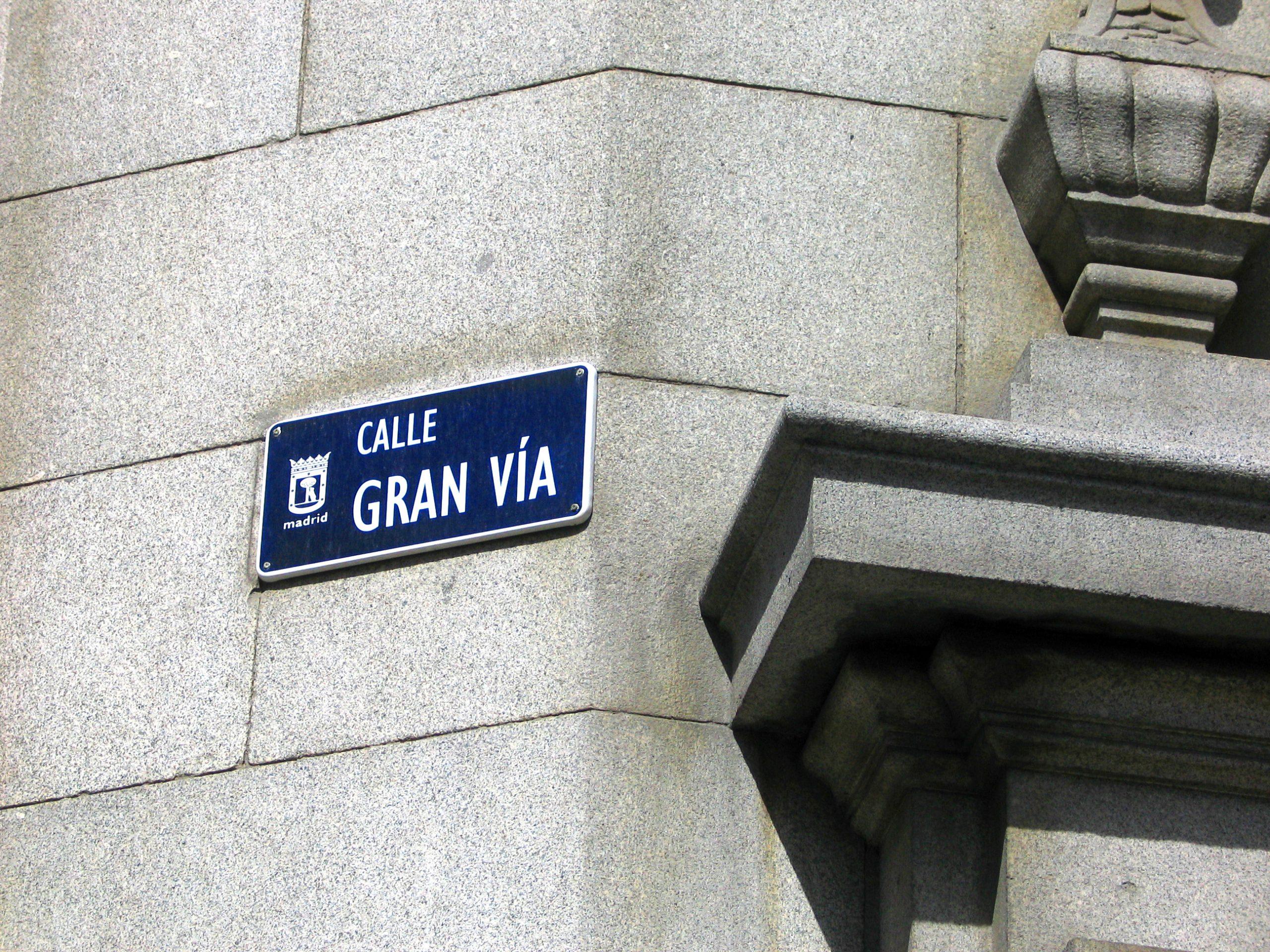 Letrero Gran Via