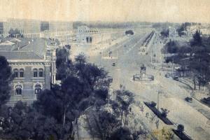 Paseo de la Castellana en 1935, Madrid