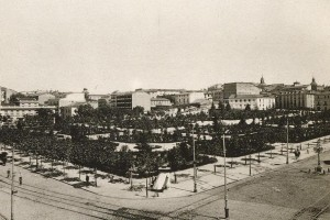 Plaza de España en 1920, Madrid