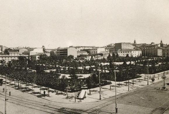 Fotos antiguas: La Plaza de España