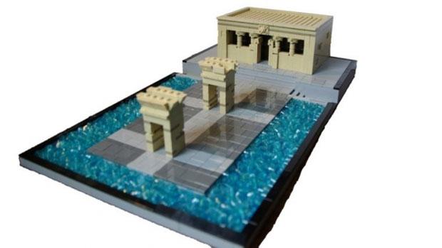 Templo de Debod en Lego, Madrid