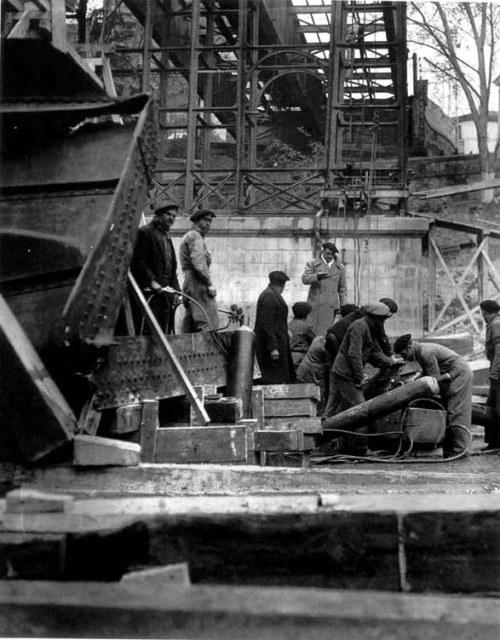 Desmontando viaducto, enero de 1935, Madrid