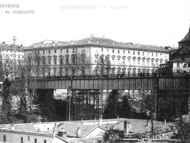 Viaducto de la Calle Bailén hacia 1880, Madrid