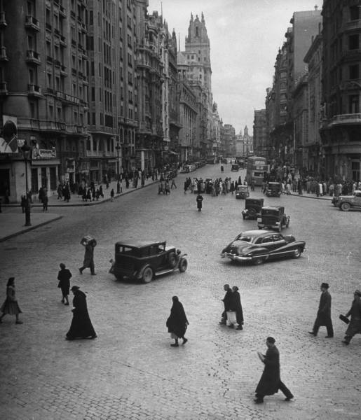 La Gran Via en 1949, Madrid