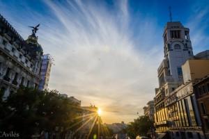 Amanecer en la Calle de Alcalá