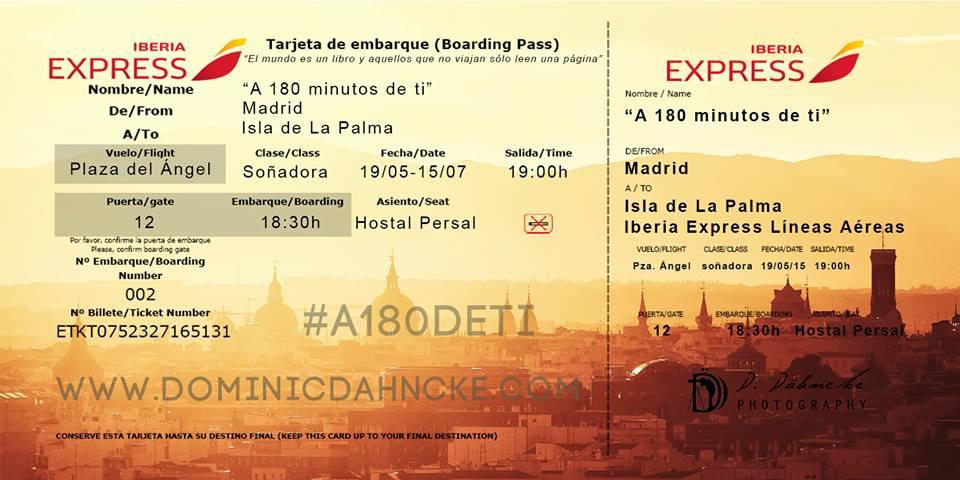 """Exposición """"A 180 minutos de ti"""" en Madrid"""
