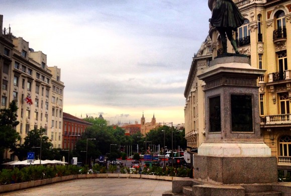 Postal de la semana: La Plaza de las Cortes