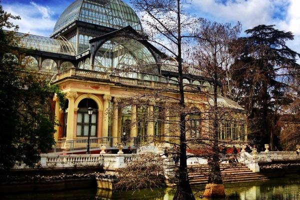 Palacio de Cristal , en el Parque del Retiro, Madrid