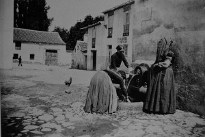 Mujeres recogiendo agua, Madrid