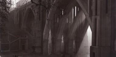 Viaducto Calle Segovia Madrid en los años cincuenta