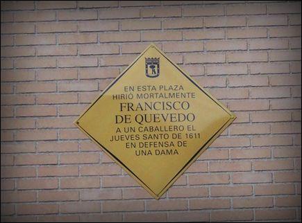 Placa en plaza de San Martin