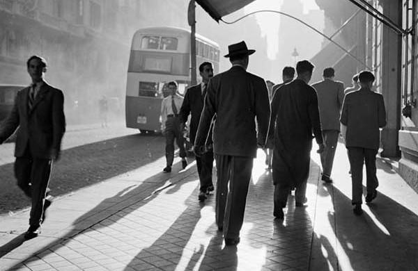 La Gran Vía en 1953, Madrid (Foto de Catalá Roca)