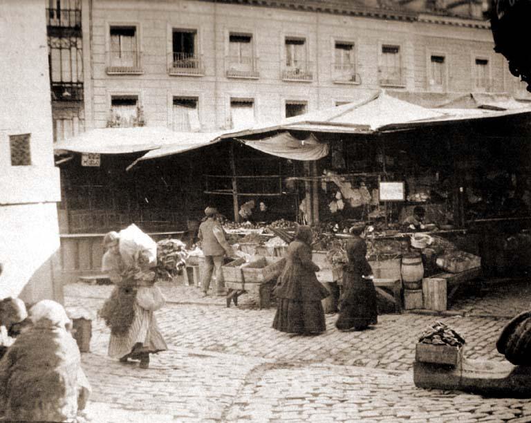 Mercado de San Miguel en 1910, Madrid