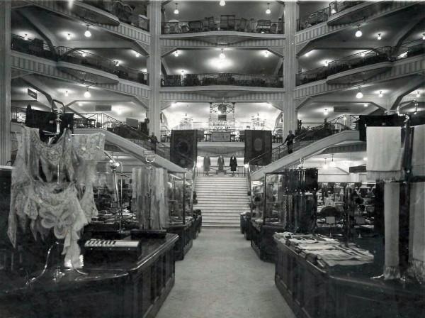 Interior de los Almacenes Madrid-París