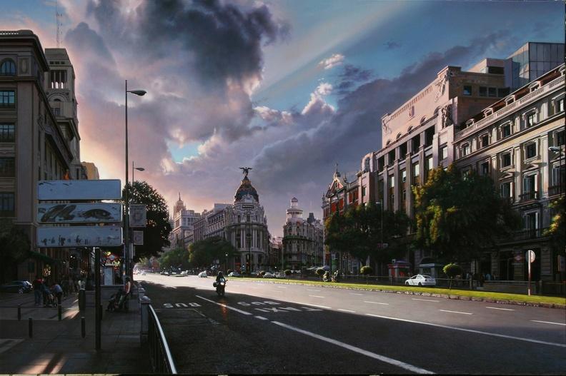 Contraluz en Alcalá, obra de Modesto Trigo