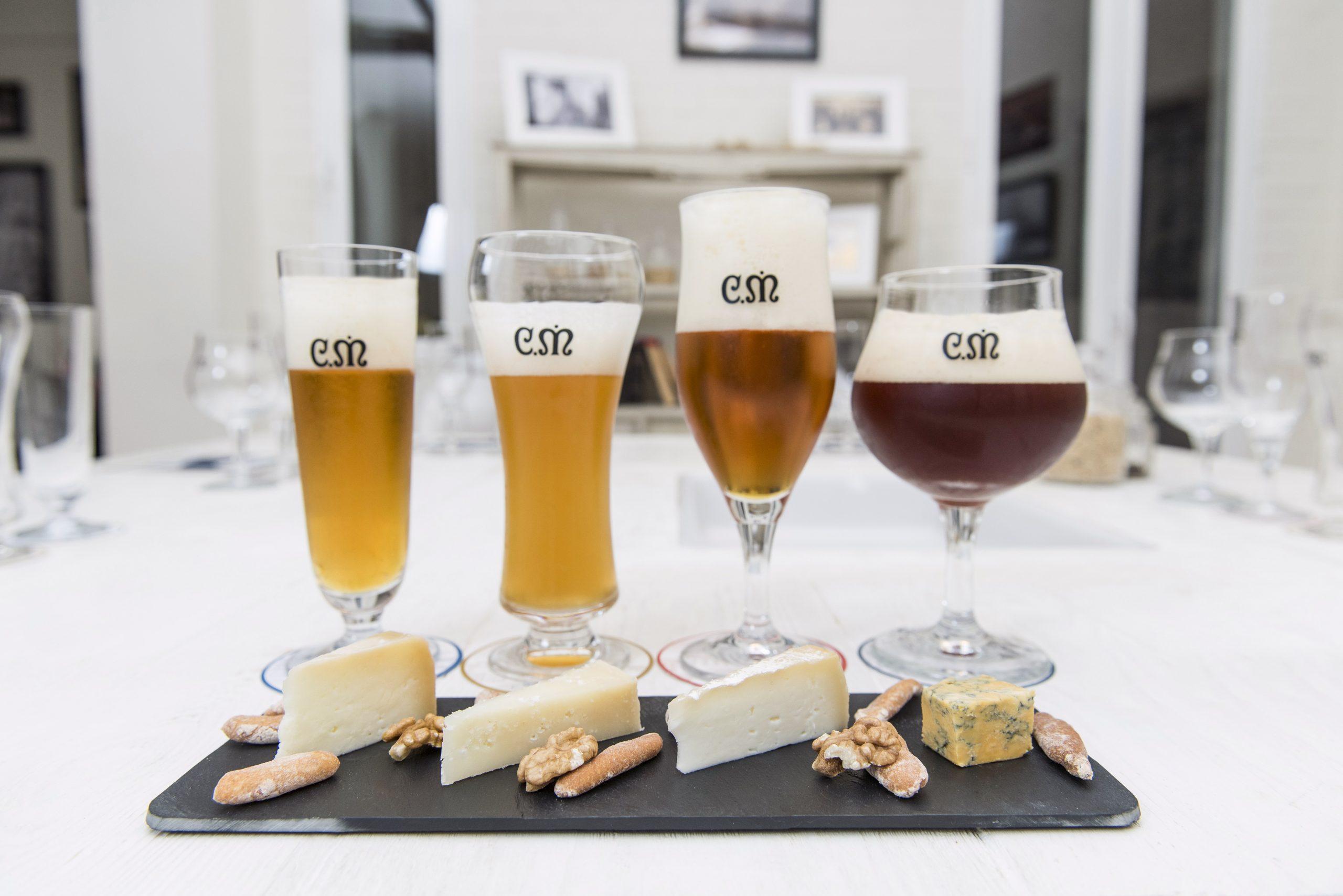 Cata maridaje Casimiro Mahou con 4 quesos Espacio Casimiro Mahou , Madrid