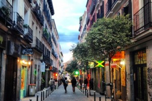 Calle Espíritu Santo, Malasaña, Madrid