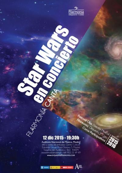 Cartel concierto Star Wars, en Madrid