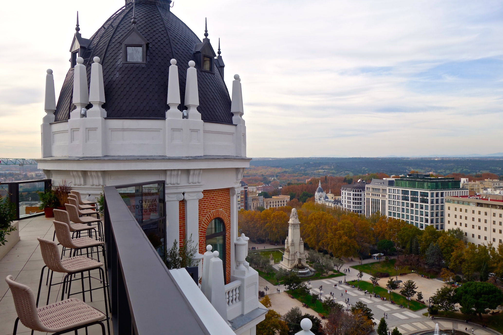 Terraza del Dear Hotel, en Madrid