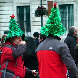 Sombreros de Navidad, Madrid