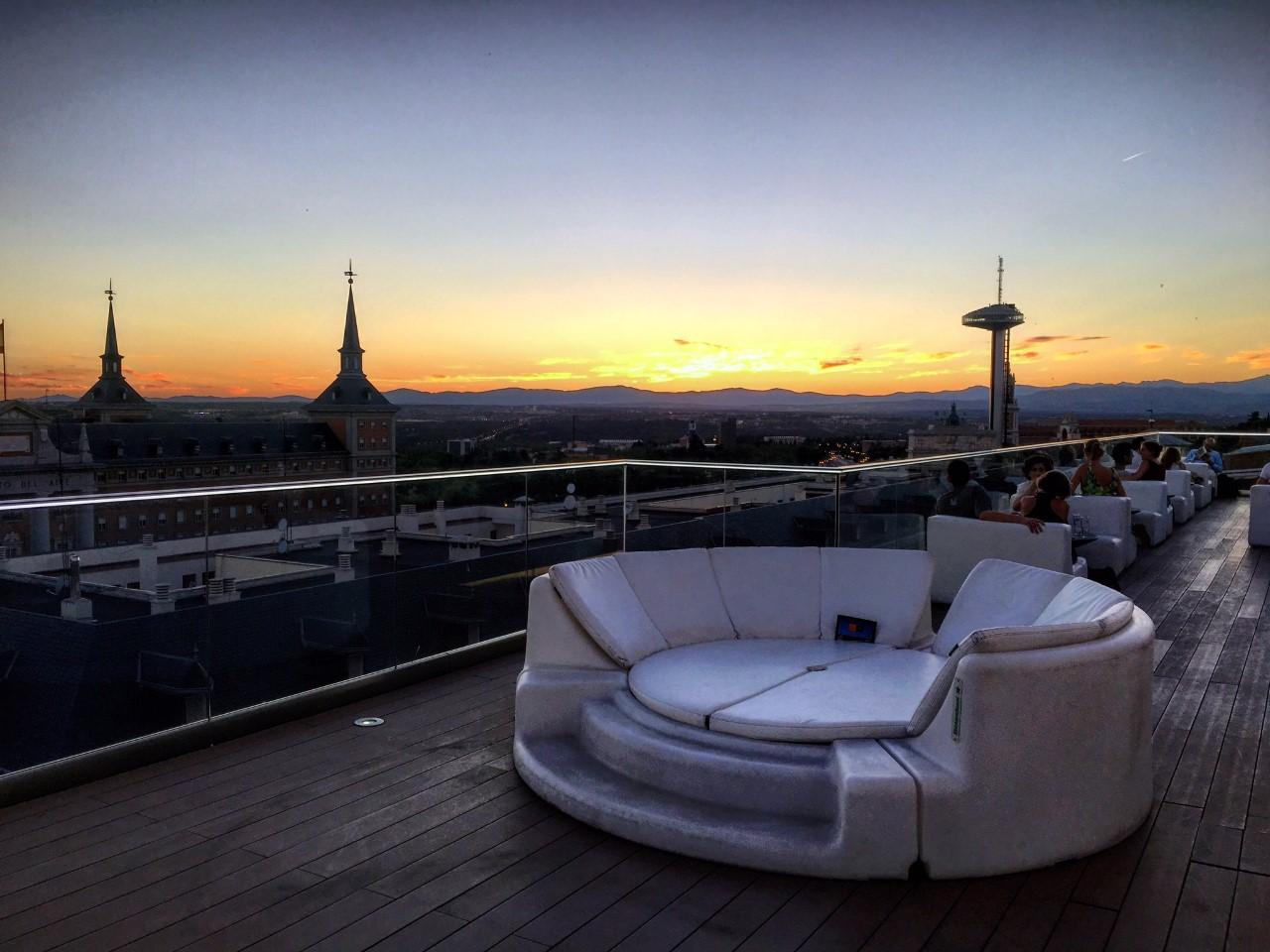 Hotel Exe Moncloa, azoteas en las terrazas de Madrid