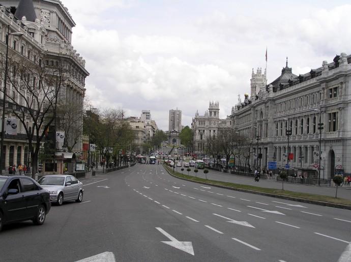 La calle de Alcalá. récord de Madrid