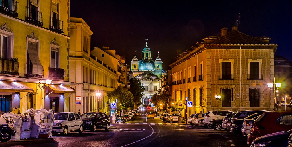 La Latina, noche, Madrid