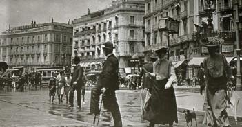 Puerta del Sol, Madrid, Foto antigua