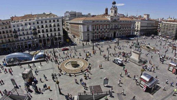 Superficie de la Puerta del Sol, Madrid