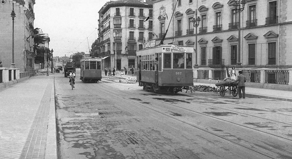Viaducto Calle Bailén, 1948. Madrid