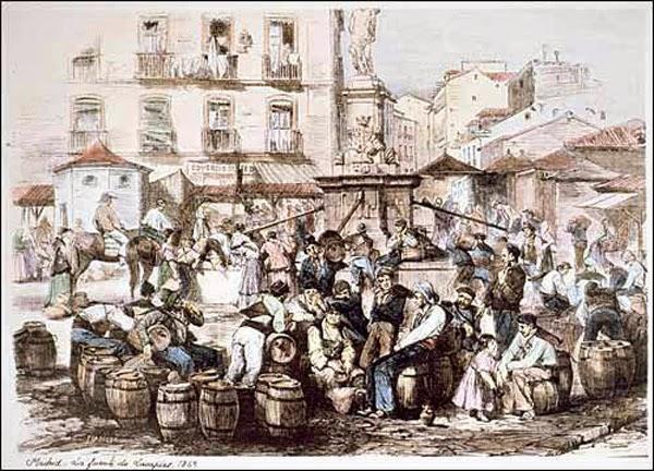 Aguadores de Madrid, en la Plaza de Lavapiés