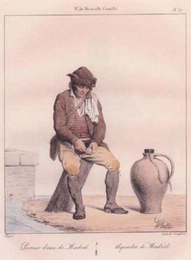 Aguador de Madrid, en 1800