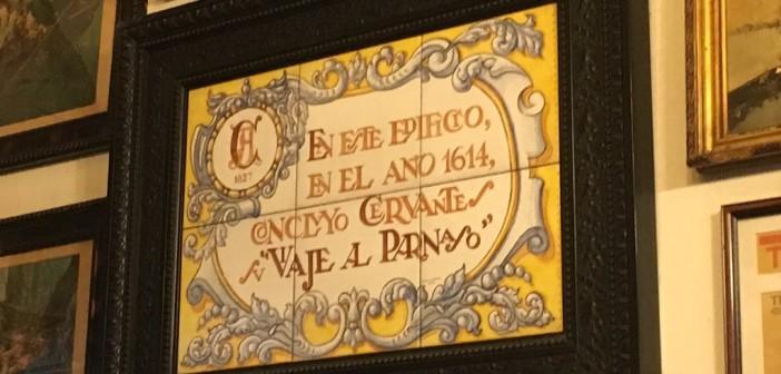 ¿En qué taberna de Madrid vivió Miguel de Cervantes?