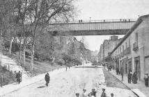 Viaducto de la Calle Bailén, en 1880. Madrid