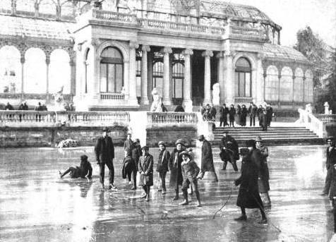 El retiro helado, en 1914. Madrid
