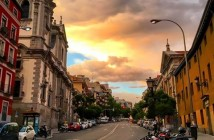Atardecer en San Bernardo, Madrid