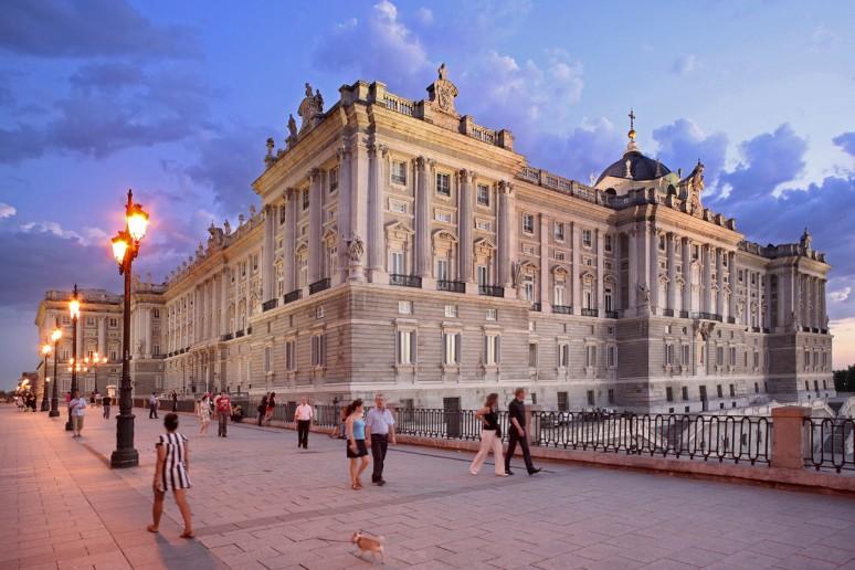 Atardecer en el Palacio Real
