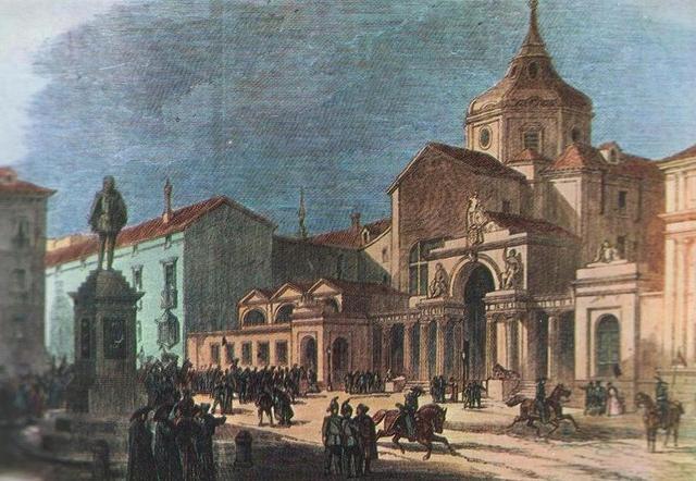 Convento del Espíritu Santo en la Plaza de las Cortes