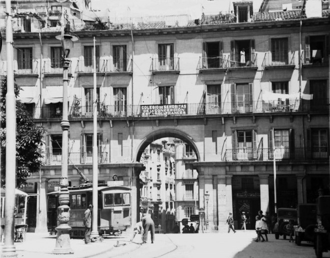 Plaza Mayor de Madrid en 1932