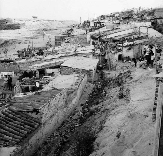 Chabolas en la actual Calle de Sainz de Baranda