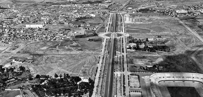 Fotos antiguas de Madrid: Paseo de la Castellana (años 40)