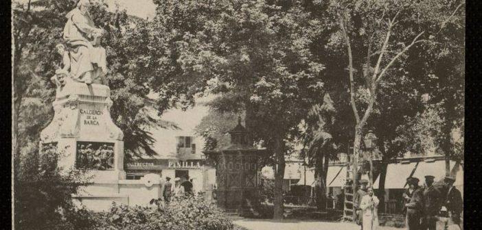 Fotos antiguas de Madrid: La Plaza del Príncipe Alfonso (hacia 1910)