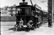 Tranvía en Cibeles