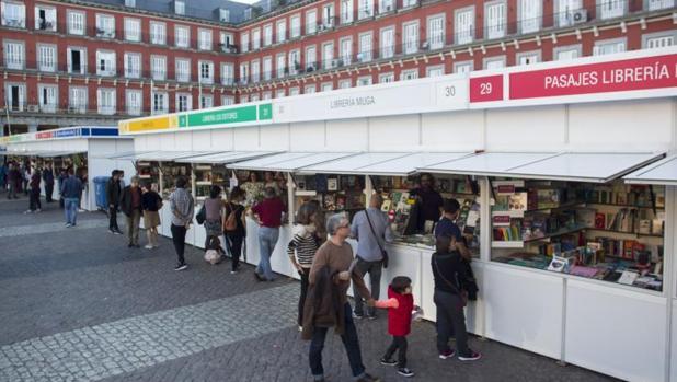Feria Libros Plaza Mayor de Madrid