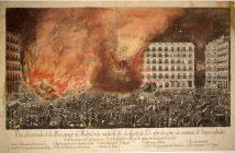 Incendio de la Plaza Mayor en 1790