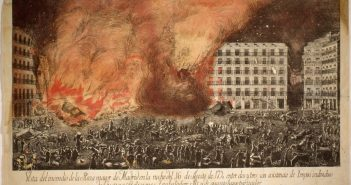 Incendio de la Plaza Mayor en 1790