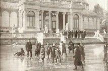 Patinando Palacio de Cristal, 1914