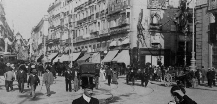 Fotos antiguas de Madrid: Carrera de San Jerónimo (1907)
