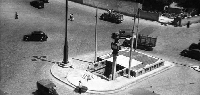 Fotos antiguas de Madrid: Glorieta de Atocha (1952)