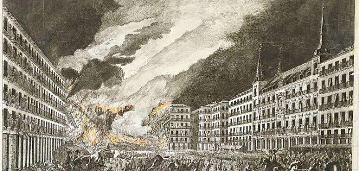 Incendios históricos en Madrid